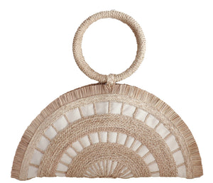 Artisan Handcrafted Natural Iraca Palm Demi Lune Bag