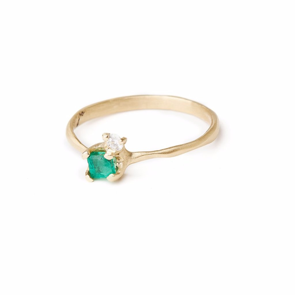 VANESSA LIANNE Annika Emerald and Diamond Ring