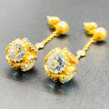 Load image into Gallery viewer, Love X Luxury Exclusive 24K Gold Earrings With Blue Topaz and Diamonds