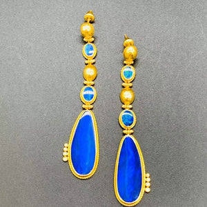 Love X Luxury Exclusive 24K Gold with Opal Earrings