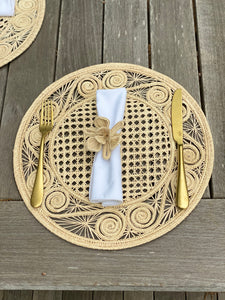 Artisan Handcrafted Natural Placemats Round