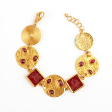Load image into Gallery viewer, Love X Luxury Exclusive 24K Gold Ruby and Agate Bracelet