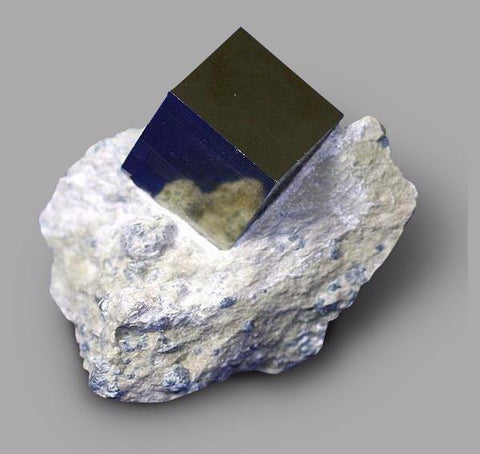 Pyrite Cube on Matrix from Navajun, Spain