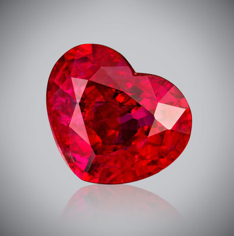 Heartcut Vivid Red Ruby, 2.27 carats, Unheated (GRS)