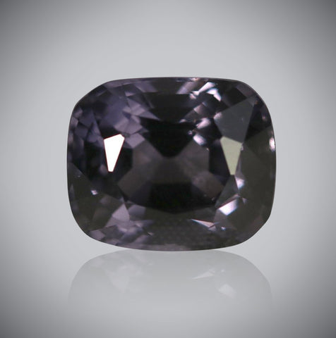 Silvery Violet Spinel, Cushion, 5.93 Carats