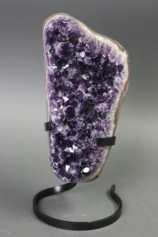 Amethyst from Uruguay, Custom Stand - 8.28 lbs.