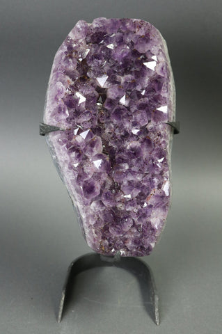 Amethyst from Uruguay, Custom Stand - 14.33 lbs