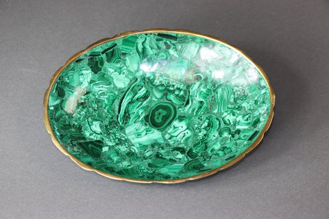 Gorgeous 8.75 Inches Polished Malachite Bowl
