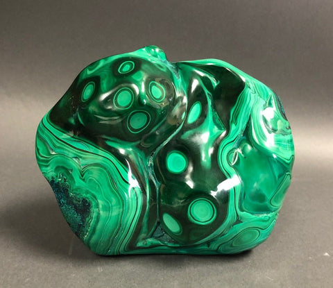 "Freestanding 6.5"" Polished Malachite Specimen"