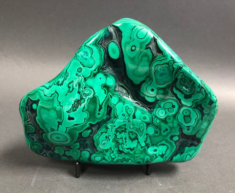 Gorgeous Polished Malachite Specimen - 3.46 lbs, 6.25""