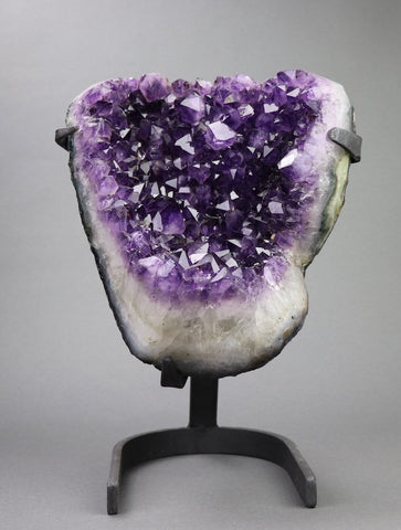 Amethyst from Uruguay with Custom Stand - 14.43 lbs