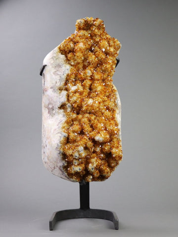 Citrine Crystals On Stand - 21""