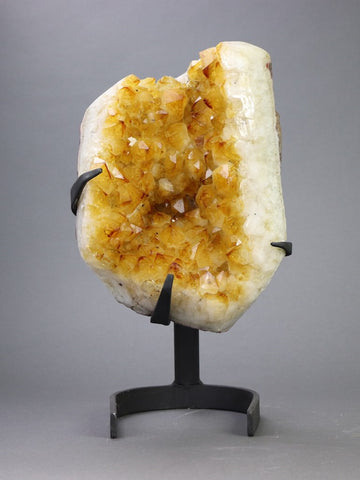 Beautiful Citrine Crystals On Stand - 15""