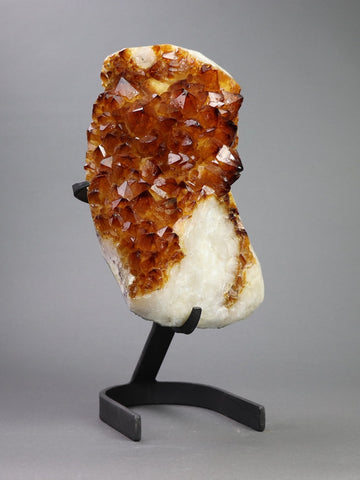 Beautiful Citrine Crystals On Stand