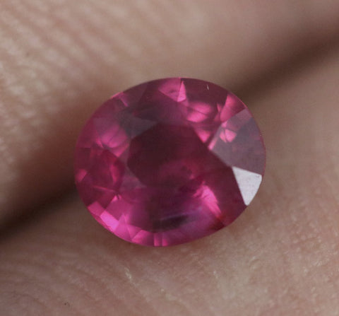 Hot Pink Sapphire, Oval/Mixed Cut, 1.26 Carats (Unheated)
