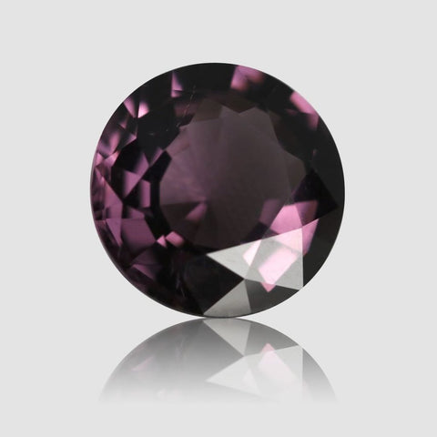 Pinkish Violet Spinel, Round Step Cut, 4.62 Carats (IGI)