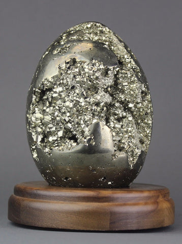 Large Pyrite Egg from Peru - 5.4 inches
