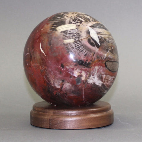Beautiful  Petrified Wood Sphere, Madagascar - 6 inches