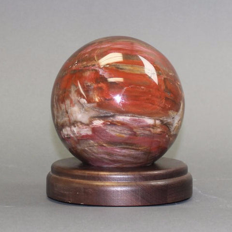 Petrified Wood Sphere, Madagascar - 4.5 inches