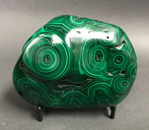 Polished Malachite Specimen - 1.34 lbs, 4""