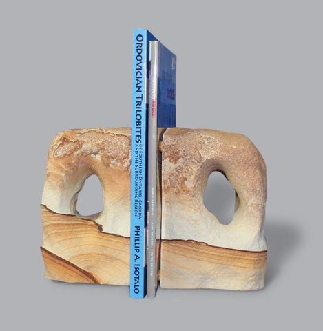 Picture Sandstone Bookends - 9.1 lbs
