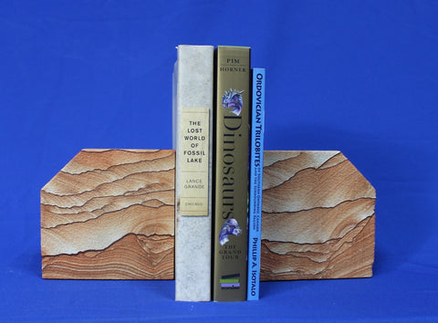 Picture Sandstone Bookends - 13 lbs