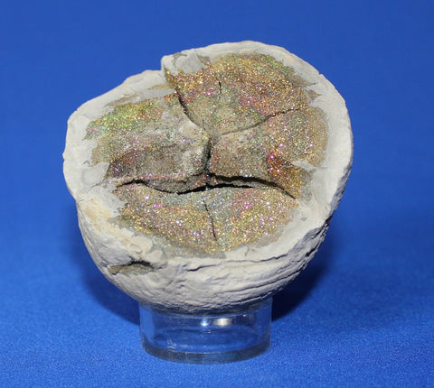 Rainbow Pyrite Druzy from Russia - 4 inches