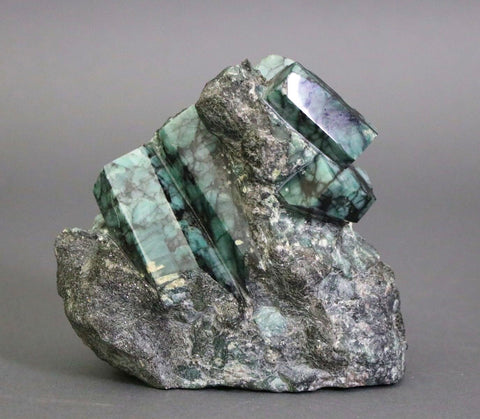 Polished Emerald Crystals in Matrix, 4.72 lbs, 5.54""