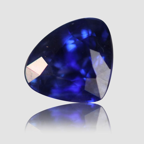 Royal Blue Sapphire, Pear/Mixed Cut, 1.55 Carats