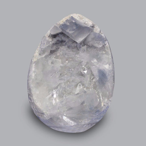 Celestine (Celestite) Egg Sculpture - 3.5 inches