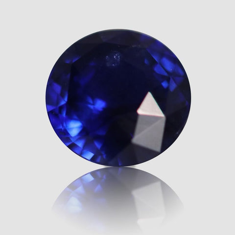 Royal Blue Sapphire, Round/Mixed Cut, 1.05 Carats