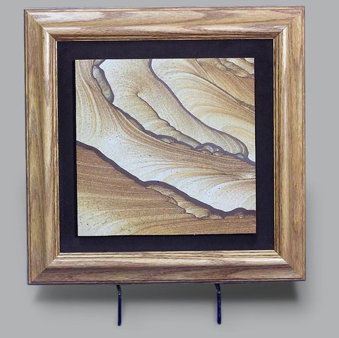 Framed Picture Sandstone Slab from Utah - 8.6 inches