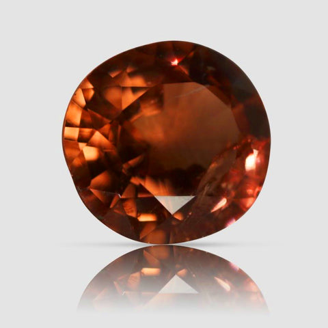 Deep Orange Spinel, Oval Mixed Cut, 2.40 Carats (IGI)