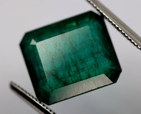 Deep Blue-Green Zambian Emerald, 16.39 carats (IGI)