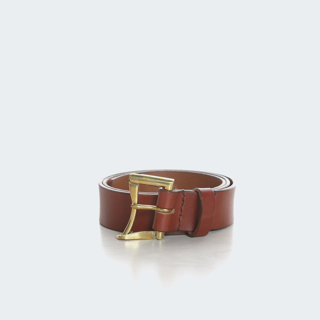 Leather Belt - Brass