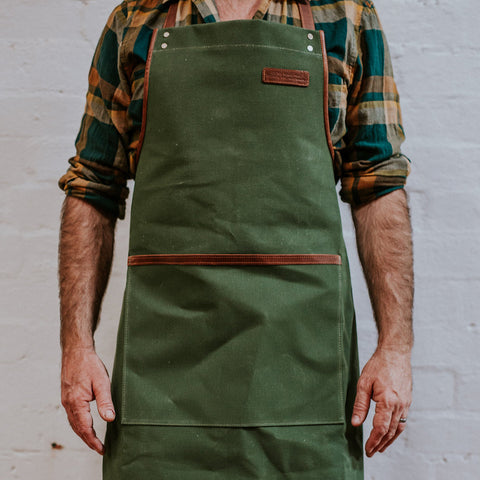 Canvas Apron - Green