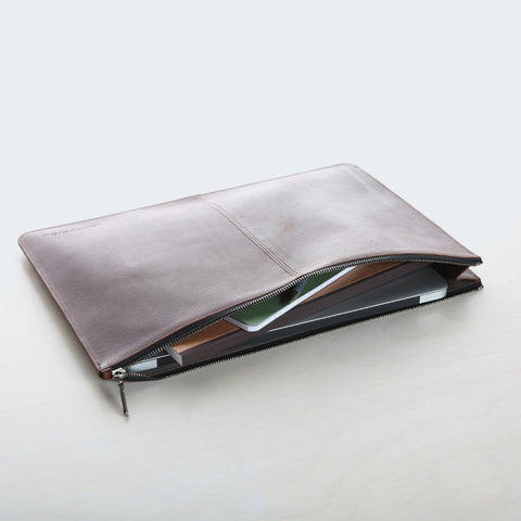 Document Holder - Red Zip