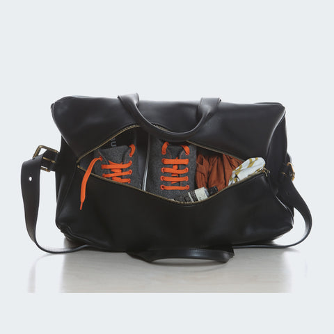 Leather Duffle - Black