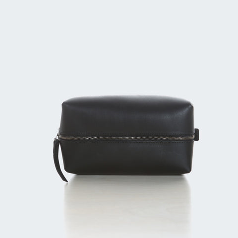 Leather Utility Bag - Black