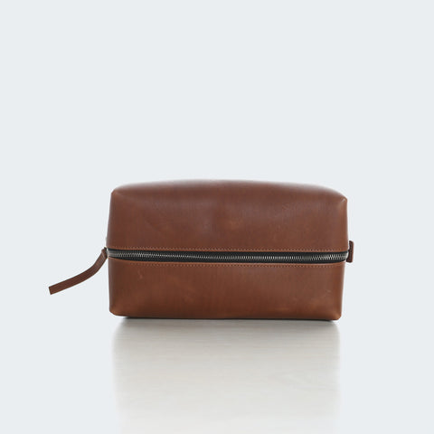 Leather Utility Bag - Brown