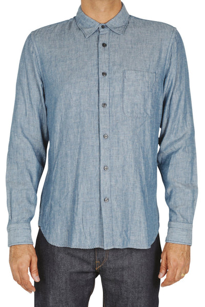 "Kato ""The Ripper"" Slim Fit Long Sleeve Chambray Shirt"