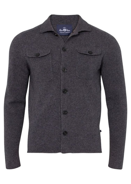 Alan Paine Tutbury Lambswool Knitted Shirt