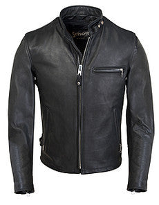 Schott Classic Racer Leather Motorcycle Jacket 141