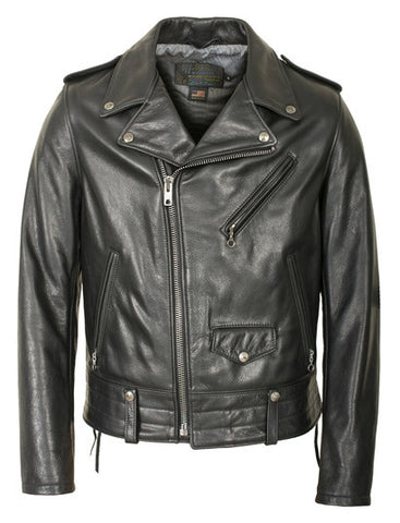 Schott 525 Natural Pebble Cowhide Motorcycle Leather Jacket
