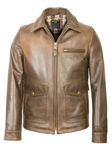 Schott 563 Waxy Cowhide Leather Delivery Jacket