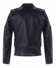Schott 603 Cafecto Steerhide Hybrid Cafe Racer Asymmetrical Leather Motorcycle Jacket