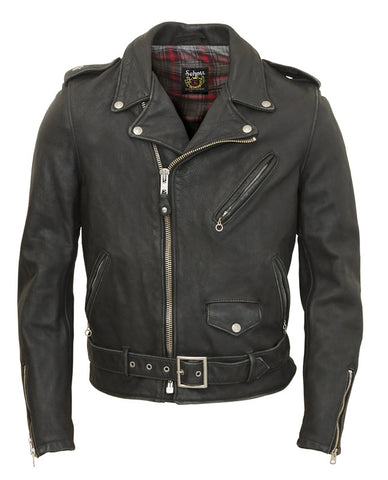 Schott 626VN Vintaged Lightweight Waxy Cowhide Fitted Motorcycle Jacket