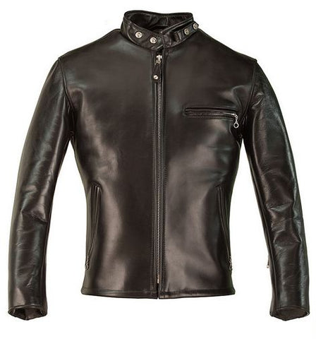 Schott 641HH Classic Racer Horse Hide Leather Motorcycle Jacket