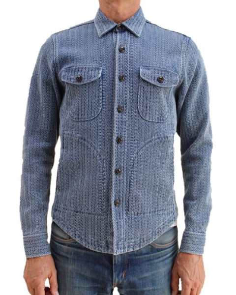 Kato The Anvil Big Herringbone Shirt Jacket