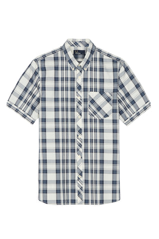 Fred Perry Bold Check Short Sleeve Button Up